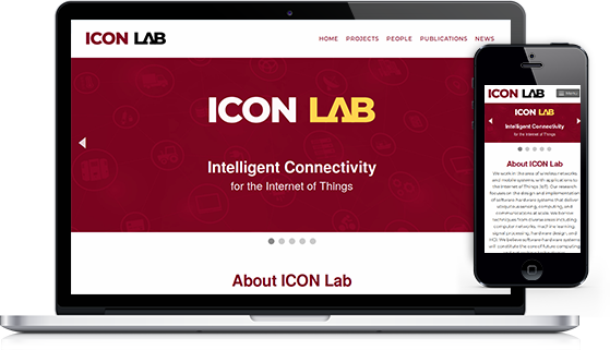 Screnshot showing the IconLab website on a variety of devices
