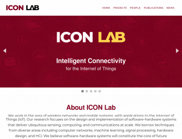 Screenshot of Icon Lab home page (desktop)