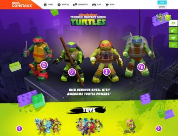 Screenshot of the TMNT home page (Desktop)