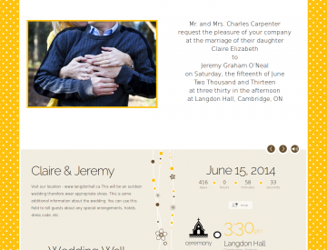Sample invitation design for My Digital wedding