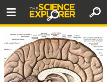 The Science Explorer home page (mobile)