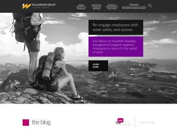Screenshot: The Williamson Group home page (desktop)