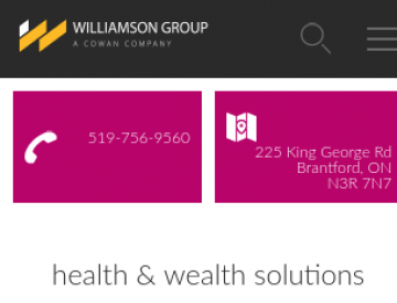 Screenshot: The Williamson Group home page (mobile)