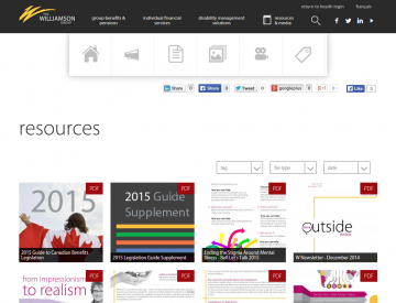 Screenshot: The Williamson Group resources page (desktop)